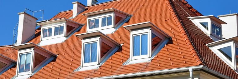 Fertig abgedecktes Dach